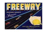 Freeway Brand - Oxnard, California - Citrus Crate Label Art by  Lantern Press