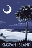 Kiawah Island, South Carolina - Palmetto Moon Poster von  Lantern Press