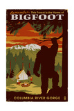 Columbia River Gorge - Home of Bigfoot Prints by  Lantern Press