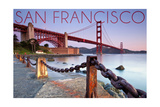 San Francisco, California - Golden Gate View Art by  Lantern Press
