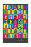 Indian Portrait Multi-Color - John Van Hamersveld Poster Artwork Prints by  Lantern Press