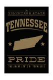 Tennessee State Pride - Gold on Black Posters by  Lantern Press