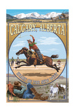 Calgary, Alberta, Canada - Heart of the New West Prints by  Lantern Press