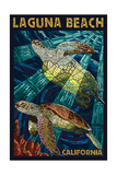 Laguna Beach, California - Sea Turtles - Mosaic Prints by  Lantern Press