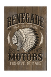 Renegade Motors - Vintage Wooden Sign Posters by  Lantern Press