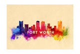 Fort Worth, Texas - Skyline Abstract Posters by  Lantern Press