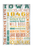 Iowa - Barnwood Typography Art by  Lantern Press