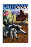 Arizona - Blond Tarantula Art by  Lantern Press