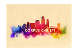 Corpus Christi, Texas - Skyline Abstract Posters by  Lantern Press
