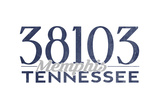 Memphis, Tennessee - 38103 Zip Code (Blue) Posters by  Lantern Press