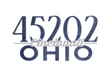 Cincinnati, Ohio - 45202 Zip Code (Blue) Posters by  Lantern Press