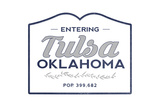 Tulsa, Oklahoma - Now Entering (Blue) Prints by  Lantern Press