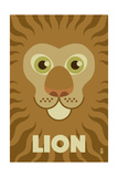 Zoo Faces - Lion Posters by  Lantern Press