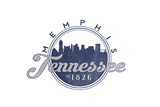 Memphis, Tennessee - Skyline Seal (Blue) Posters by  Lantern Press