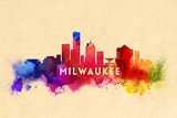 Milwaukee, Wisconsin - Skyline Abstract Prints by  Lantern Press