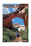 Natural Bridges National Monument, Utah - Sipapu Bridge Posters by  Lantern Press