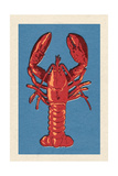 Lobster - Woodblock Plakater af  Lantern Press
