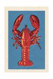 Lobster - Woodblock Reprodukcje autor Lantern Press