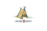 Lakefront Property - Tent Prints by  Lantern Press