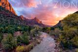 Zion National Park, Utah - the Watchman Prints by  Lantern Press