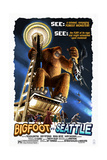 Bigfoot vs Seattle - Seattle, Washington Posters by  Lantern Press