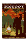 Chattahoochee National Forest, Georgia - Home of Bigfoot Posters by  Lantern Press