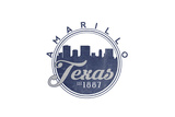 Amarillo, Texas - Skyline Seal (Blue) Prints by  Lantern Press