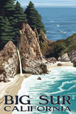 Big Sur, California - McWay Falls Prints by  Lantern Press