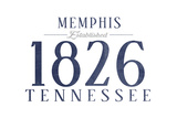 Memphis, Tennessee - Established Date (Blue) Prints by  Lantern Press