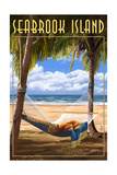 Seabrook Island, South Carolina - Hammock and Palms Prints by  Lantern Press