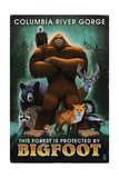 Columbia River Gorge - Respect Our Wildlife - Bigfoot Art by  Lantern Press