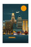 Baltimore, Maryland - Retro Skyline (no text) Posters by  Lantern Press