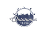 Tulsa, Oklahoma - Skyline Seal (Blue) Poster by  Lantern Press