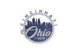 Cincinnati, Ohio - Skyline Seal (Blue) Posters by  Lantern Press