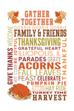 Illiopolis, IL - Gather Together - Thanksgiving Typography Art by  Lantern Press