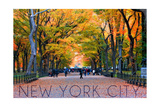New York City, New York - Central Park in Autumn Prints by  Lantern Press