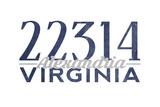 Alexandria, Virginia - 22314 Zip Code (Blue) Art by  Lantern Press
