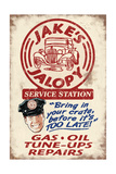 Jakes Jalopy Service Station - Vintage Sign Print by  Lantern Press
