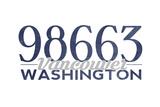 Vancouver, Washington - 98663 Zip Code (Blue) Posters by  Lantern Press