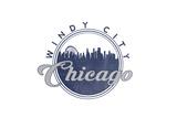 Windy City - Chicago, Illinois - Skyline Seal (Blue) Prints by  Lantern Press