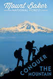 Mount Baker National Forest, Washington - Conquer the Mountain Posters by  Lantern Press