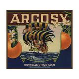 Argosy Brand - Irwindale, California - Citrus Crate Label Art by  Lantern Press