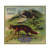 Fox Brand - California - Citrus Crate Label Prints by  Lantern Press