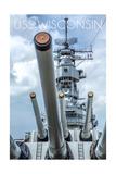 USS Wisconsin - Guns View Prints by  Lantern Press
