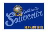 Visited New Hampshire - Authentic Souvenir Posters by  Lantern Press