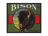 Bison Brand - Upland, California - Citrus Crate Label Posters by  Lantern Press