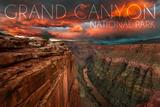 Grand Canyon National Park, Arizona - Red Sky Prints by  Lantern Press