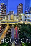 Houston, Texas - Downtown Skyline Prints by  Lantern Press