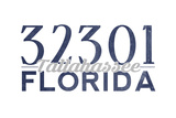 Tallahassee, Florida - 32301 Zip Code (Blue) Prints by  Lantern Press