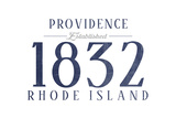 Providence, Rhode Island - Established Date (Blue) Prints by  Lantern Press